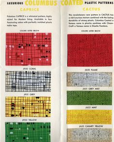 Luxurious Columbus Coated Plastic Patterns color samples