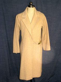 'Vintage Ladies Full Length Coat with Gold Clasp Detail ' is going up for auction at  7pm Mon, Apr 21 with a starting bid of $50.