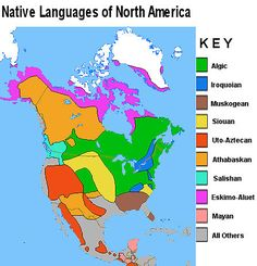 Native Indians Of North America Linguistic Map Classroom Ideas - Map of us with native american tribes north america