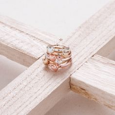 Metallic Heart Ring Set $9.95  #stack #rings #ringset #pavementbrands #teengirls #girlsaccessories #hearts #metals #gold #rosegold #silver
