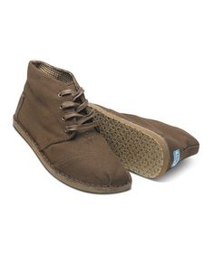 Take a look at this Brown Canvas Desert Botas - Men by TOMS on #zulily today! $44.99, regular 69.00