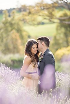 Engagement Shoot in a Lavender Field | Life in Still Photography | http://www.stylemepretty.com/2012/11/30/south-australia-engagement-session-from-life-in-still-photography/