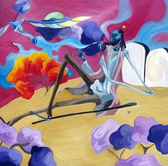 Da Purplest Kush 36In x 36in Oil on canvas Purchase : art@gallery38.com