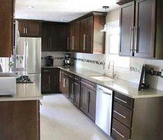 1000 images about kitchens dark brown on pinterest doylestown pennsylvania dark brown for Builders warehouse kitchen designs