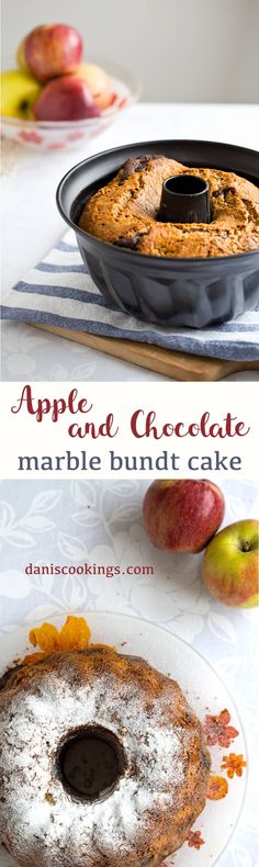 Almost healthy Apple Chocolate Marble Bundt Cake, fluffy and tasty - Dani's Cookings