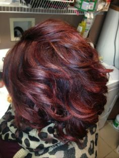 Red hair redken chromatics 6rr and 5Rv