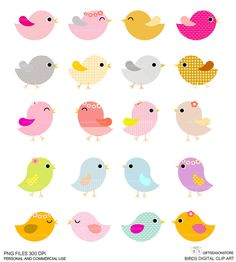 20 Birds DIGITAL CLIP ART