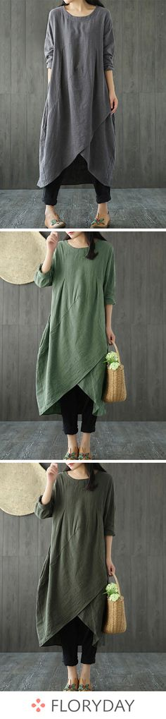 Shop Floryday for affordable Dresses. Floryday offers latest ladies' Dresses collections to fit every occasion. Trendy Fashion, Womens Fashion, Style Fashion, Fashion News, Linen Dresses, Buy Dress, Women's Fashion Dresses, My Style, Dress Pockets