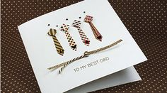 Handmade Fathers Day Card Tie Collection