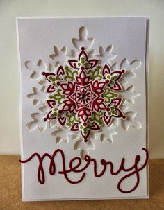 Festive Flurry - I love this idea and the colors too  Stampin' Up!