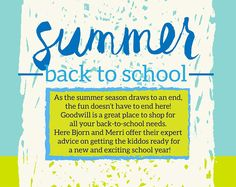 Goodwill's Bjorn and Merri on Back to School style!