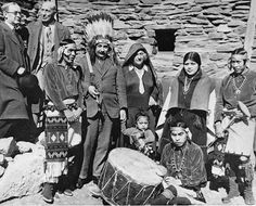 Dr. Albert Einstein and Mrs. Elsa Einstein at Hopi House, Grand Canyon, Arizona 1931