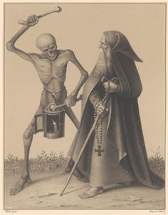 """The Hermit"" from Basel's dance of death by Hieronymus HESS."