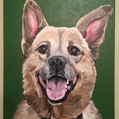 "Custom pet portrait 11x14"" 'Kodi'"