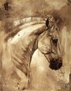 Baroque Horse Series III:III Art by Heather Theurer