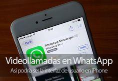 Así podrían ser las videollamadas en WhatsApp para iPhone