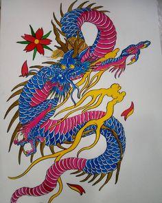 nils_onfire 🌸🔥🔥 . . #dragonfire #dragon #japanesetraditional #chinesetattoo #draco #japanesetattoo #chineseink #sakura #ryu #fuego #onfire #dragonforce #tattoocolombia #tattoomedellin #medel Draco, Rooster, Animals, Animales, Dragonair, Animaux, Animal, Animais, Chicken