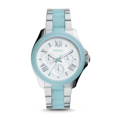 faef86b42a44 Cecile Multifunction Two-Tone Stainless Steel Watch - Fossil Kate Spade  Watch