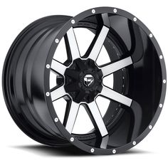 Fuel Maverick Machined Black Wheel / Rim with a Offset and a Hub Bore. Custom Wheels And Tires, Rims And Tires, Rims For Cars, Truck Rims, Truck Wheels, Hot Wheels, Chevy Trucks, Fuel Rims, 24 Rims