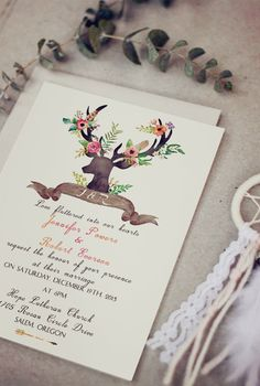 chic rustic boho themed wedding invitations for 2016