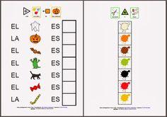 Los colores en Halloween: acitividad para trabajar los colores asociándolos con diferentes elementos representativos de la fiesta de Halloween.