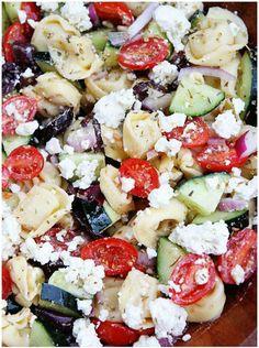 40 Best Pasta Salad Recipes - Greek Tortellini Salad