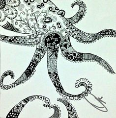 Zentangle octopus