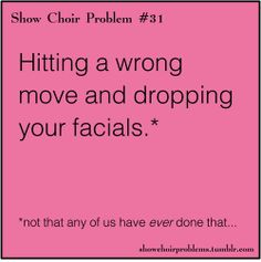 that awkward moment when scary facials come out...