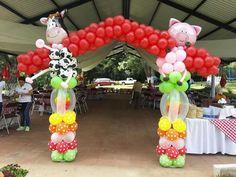 Peppa Pig Balloons, Balloon Animals, Balloon Arch, Balloon Decorations, Party, Design, Sinks, Globe Decor, Farmhouse