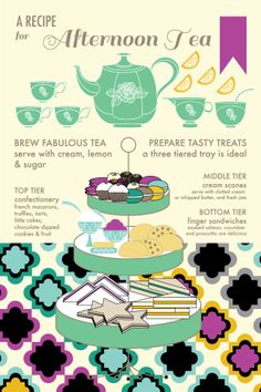 A Recipe for Afternoon Tea - tea towel fabric via Spoonflower! http://www.spoonflower.com/designs/3100756