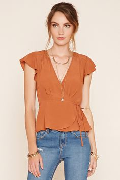 Shop a variety of styles in women's tops at Forever Find knit and woven blouses, cami's, tees, sweaters, short and long sleeve tops for women! Blouse And Skirt, Blouse Dress, Look Fashion, Fashion Outfits, Womens Fashion, Dresses For Apple Shape, Cool Outfits, Summer Outfits, Sewing Blouses