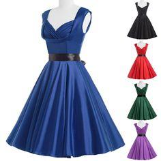 PLUS SIZE De 1950 Años 60 Vestido Vintage Pin up noche baile