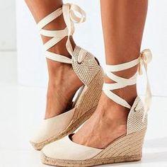 Boty - Dámské oblečení - Móda | PoštovnéZDARMA.cz Shoes Heels Wedges, Womens Shoes Wedges, Women's Shoes Sandals, Wedge Sandals, Chunky Sandals, Lace Up Wedges, Sandals Outfit, Women Sandals, Sandal Price