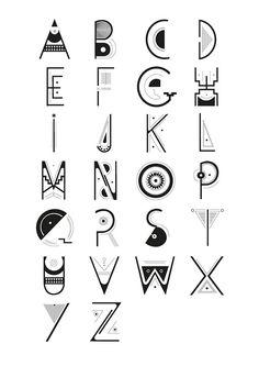 Design of precolombian caracter