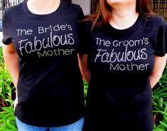 The Bride's Fabulous Mother Rhinestone Tee - Mother of the Bride T-Shirt