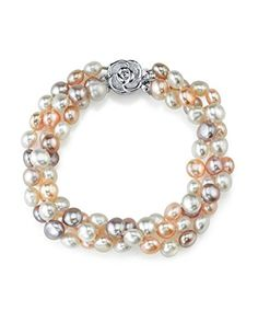 5mm Multicolored Freshwater Cultured Pearl Bracelet ** You can get additional details at the image link.