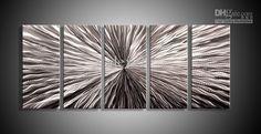 Metal Wall Art Abstract Contemporary Sculpture Home Decor Modern Huge Explosion 111060B metal wall
