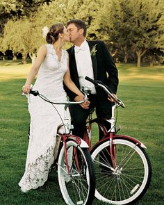 there is something about a bride and groom on a bike that makes me smile.