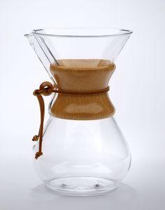 Chemex coffee maker.