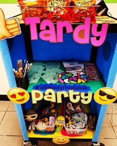 This Tardy Party cart is for the class in each level that had the least amount of tardies for the week.