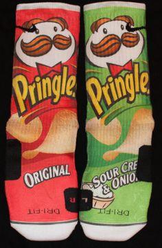 Pringles Custom Nike Elite Socks Parody by LuxuryElites on Etsy