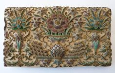 Vintage Silk and Goldwork Clutch- pastelcoloured raised embroidery, bullion, metallic embroidery. Vintage clutch purse 40's 50's, made by ZARDOZI