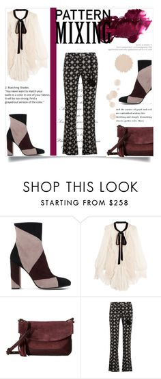 """Mix it"" by tauriel25 ❤ liked on Polyvore featuring Gianvito Rossi, Chloé, Frye, Figue, Anastasia Beverly Hills and patternmixing"