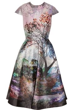 Mary Katrantzou | Babelonia metallic jacquard dress | NET-A-PORTER.COM