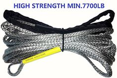 """1/4"""" 65' ATV winch rope for winch 4500LB or less with other length. For product info go to:  https://www.caraccessoriesonlinemarket.com/14-65-atv-winch-rope-for-winch-4500lb-or-less-with-other-length/"""