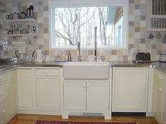 awning windows in kitchen above sink | The kitchen in our house has a story — it led me to collect kitchen ...