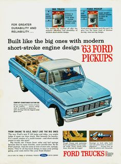 Vintage Trucks Muscle Carros y Clasicos - Ford Pickups Ford 4x4, Car Ford, Ford Classic Cars, Classic Chevy Trucks, Classic Auto, Cool Trucks, Big Trucks, Motor Ford, Power Rangers