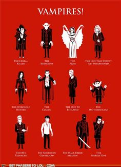 Vampires - A classification - the sparkly one lmao