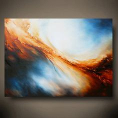 "Large Canvas Abstract Oil Painting by Artist Simon Kenny ""Underworld"""