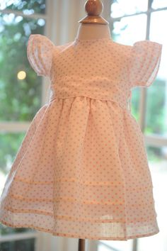 Avery Dress in Pink Polka Dots